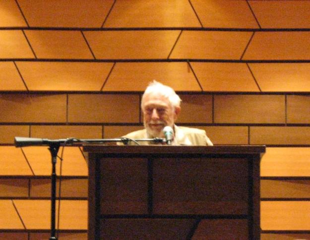 Gary Snyder reading, image by Tim Mahoney
