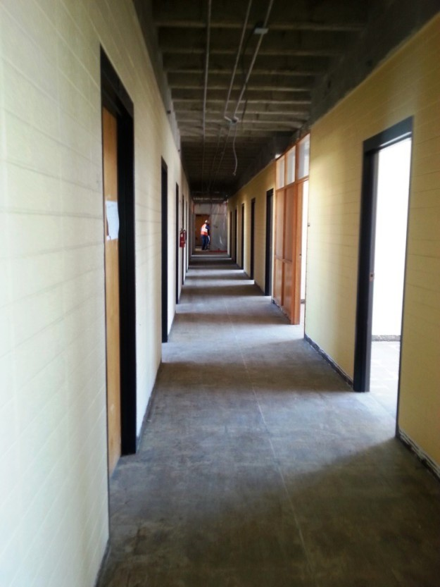 Third floor of Eddy hallway, now